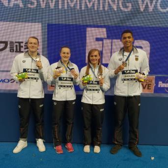 Laura Riedemann beim Weltcup der Schwimmer/-innen in Tokio 2018
