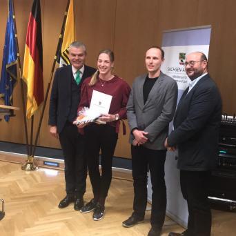 Auszeichnung des Landes Sachsen-Anhalt als jüngste erfolgreichste Nachwuchssportlerin