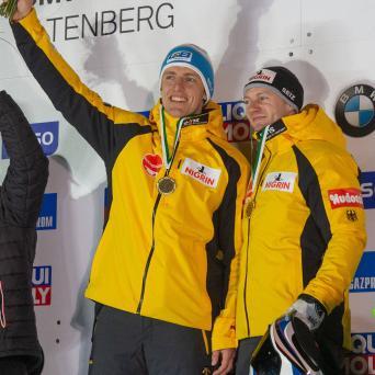 Thorsten Margis mit Weltcup-Sieg im Zweierbob von Friedrich in Altenberg