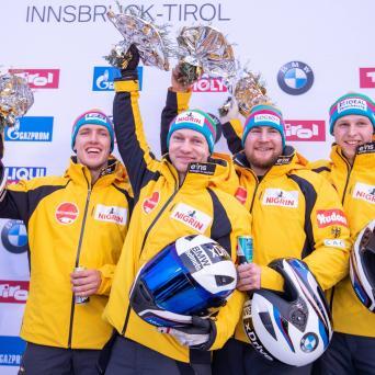 Margis und Schüller gewinnen im Viererbob beim Weltcup in Innsbruck