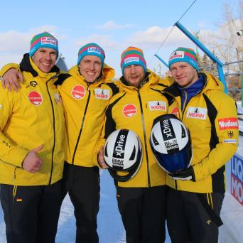 Thorsten Margis im Viererbob mit Gesamtweltcupsieg in Calgary (Kanada)