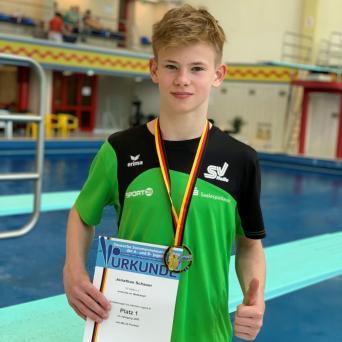 Jonathan Schauer mit 2x Gold bei den Deutschen Jugendmeisterschaften