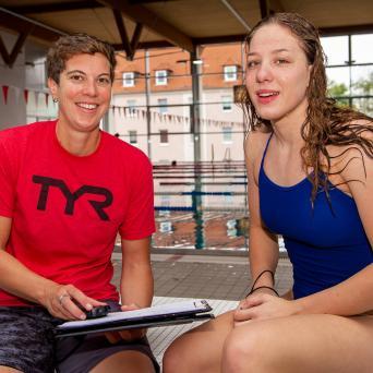Lucie Mosdzien mit Trainerin Anne Borinski am 11.07.2019