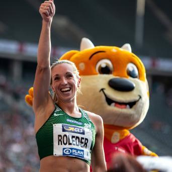 Cindy Roleder mit Gold über 100m Hürden bei den DM in Berlin 2019