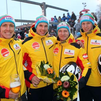 Torsten Margis und Alexander Schüller holen EM Silber im Vierer-Bob