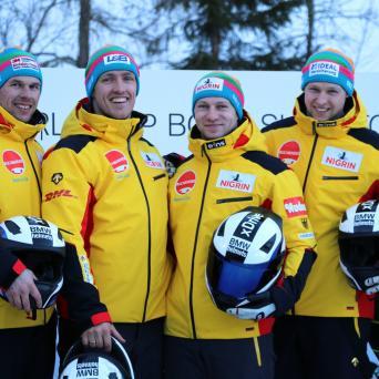 Thorsten Margis und Alexander Schüller beim Weltcup in St.Moritz