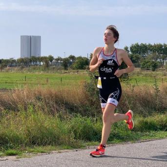 Pauline Feußner mit zwei Podestplätzen beim Swim & Run auf Fehmarn