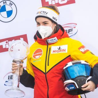 Kim Kalicki (SV Halle/Wiesbaden) mit Silber im Gesamtweltcup