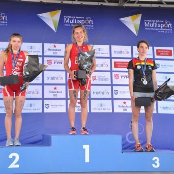 Pauline Feußner holt Bronze bei der Aquathlon-WM in Dänemark