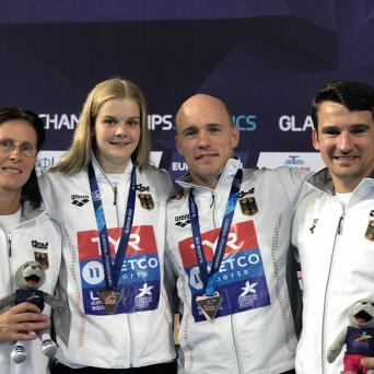 Florian Fandler holt Bronze im Turm-Mixed-Event bei der EM in Edinburgh 2018