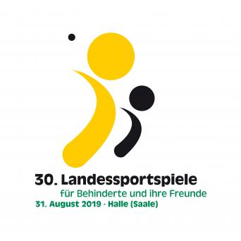 """Logo """"30. Landessportspiele für Behinderte und ihre Freunde"""""""