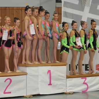 Gymnastinnen des SV Halle holen Podestplätze beim Deutschland-Cup 2018