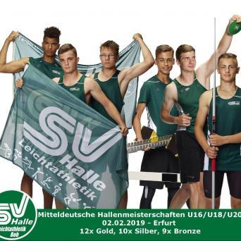Mitteldeutsche Hallenmeisterschaften der U16/U18/U20 in Erfurt