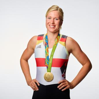 Olympiasiegerin im Doppelvierer 2016 Julia Lier