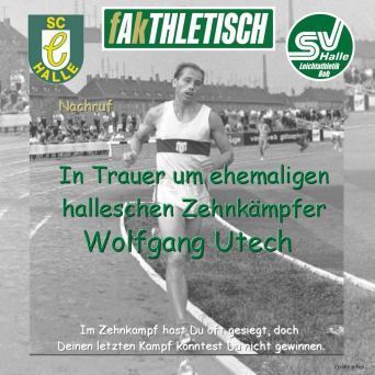Wolfgang Utech verstorben